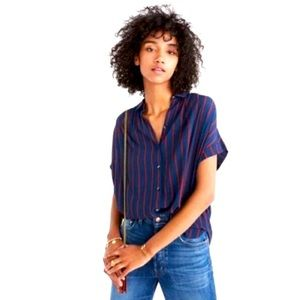 Madewell Central Drapey Shirt in Stripe
